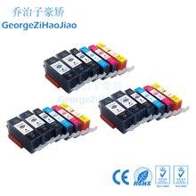 18 шт 525XL Совместимость PGI525 Canon принтерам Pixma IP4850 IP4950 MG5150 MG5250 MG5350 MG8150 MX885 чернильный картридж