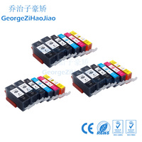 18PCS 525XL Compatible PGI525 Canon Pixma IP4850 IP4950 MG5150 MG5250 MG5350 MG8150 MX885 Ink Cartridge