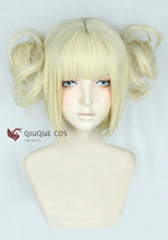 My Hero Academia Boku no Hiro Akademia Himiko Toga Short Light Blonde Heat Resistant Cosplay Costume Wig + Track + Cap