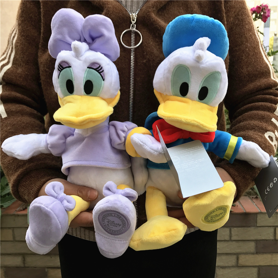 2pcs/lot 30cm=11.8inch original Donald duck plush toys,Donald and Daisy stuffed baby children soft toys Christmas gift donald wigal pollock