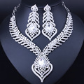 Free shipping,2016 latest new african costume jewelry sets silver plated rhinestones bridal jewelry sets fashion wedding jewelry