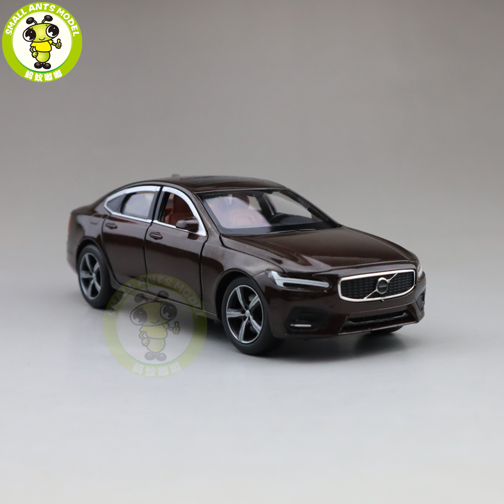 <font><b>1/32</b></font> JACKIEKIM Volvo S90 shock absorption version Diecast <font><b>Model</b></font> <font><b>CAR</b></font> Toys for kids Boy girl Gifts image