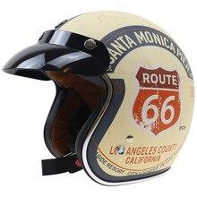 De calidad superior Chopper bike helmet DOT appproved casco de moto 3/4 casco abierto Diseño Clásico estilo retro