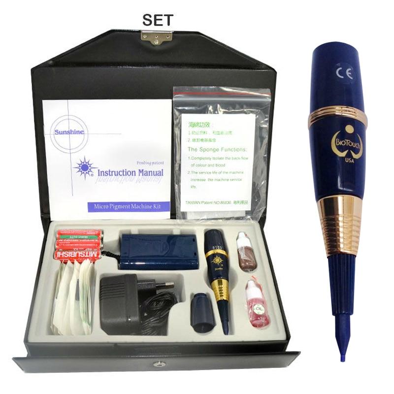 1 set G-9810 USA biotouch Sunshine tattoo machine kit permanente make machine kit Voor Wenkbrauw en Lip Tattoo pen tattoo gereedschap