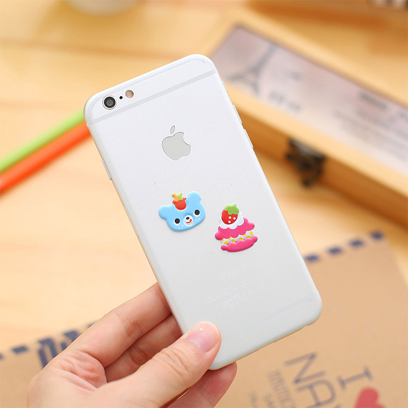 2 PCS Kawaii Cartoon 3D Bubble Stickers DIY Diary Scrapbook Notebook Album Cup Phone Decor Sticker Stationery School Supplies in Memo Pads from Office School Supplies