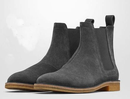 New Genuine Leather Suede Men Ankle Booties Slip-on Martin Boots Casual Flats Shoes Cool Street Style Motorcycle Boots Shoes new fashion men luxury brand casual shoes men non slip breathable genuine leather casual shoes ankle boots zapatos hombre 3s88