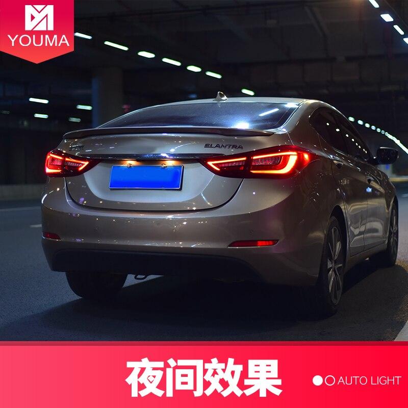 Estilo del coche para la luz trasera del coche para Elantra LED luz trasera 2011 2016 para Elantra luz trasera señal de giro con secuenciales indicador - 5