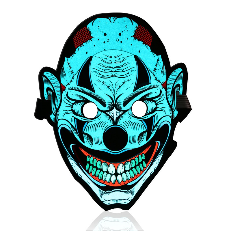 Sound Control Halloween LED Light Mask Dynamic Mask Luminous Glowing Flash Cosplay Full Face Masks Carnaval Party Supplies Decor