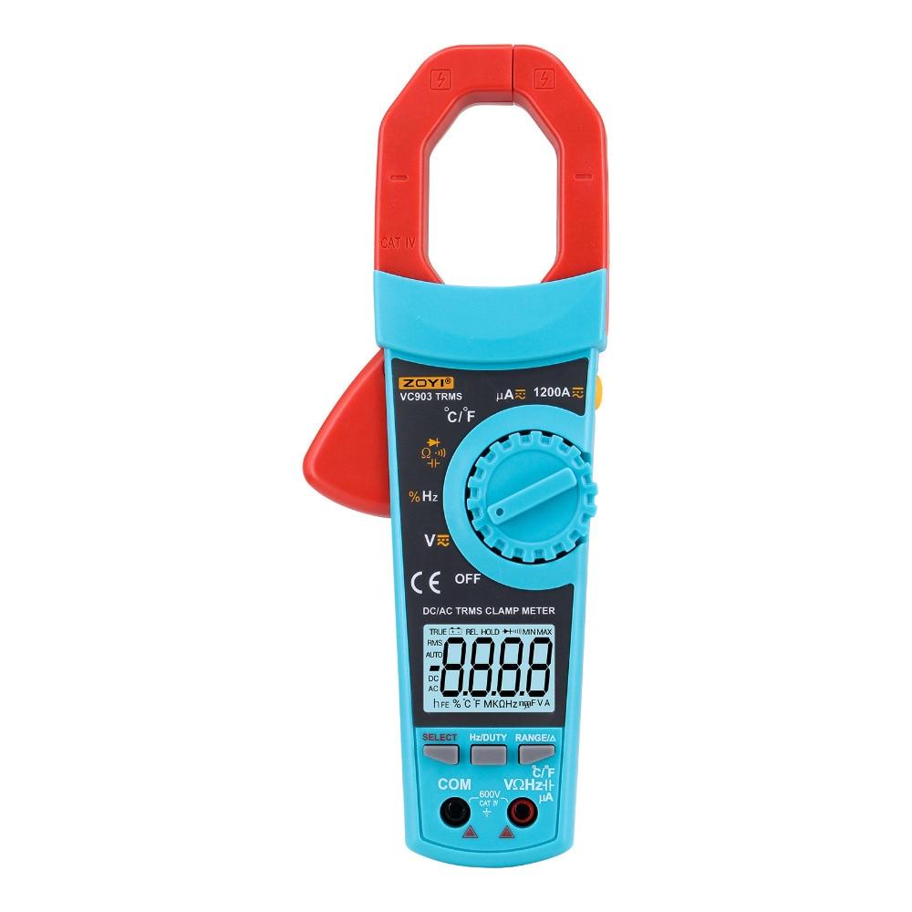 Multímetro digital Medidor de pinza Termómetro -20-1000 grados AC / DC Voltaje de corriente Condensador Probador de resistencia Voltímetro Amper