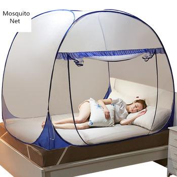 Nowy jurta moskitiera Moustiquaire netto na łóżko pojedyncze podwójne moskitiera baldachim siatki dzieci namiot z łóżkiem Home Decor odkryty klamboe tanie i dobre opinie changbvss Jednodrzwiowe Uniwersalny Mongolian Yurt Mosquito Net OUTDOOR Domu kkWZ075 Dorosłych Mongolski jurta moskitiera