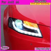 cars Headlight For Audi A4 2009 2012 Headlights LED DRL Running lights Bi Xenon Beam Fog lights angel eyes Auto