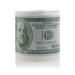 1 шт. забавные сто доллар Билла Туалет Рулон Бумаги деньги рулон $100 роман подарок