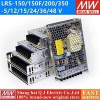 Meanwell LRS-150-12 12 В 15 в 36 в 48 в meanwell LRS-150 150F 150 Вт 5 в 12 В 15 в 24 в 36 В 48 В Один выход импульсный источник питания