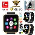 100% Оригинальный Монитор Сердечного ритма Bluetooth водонепроницаемый Smart watch GT88 Smartwatch Поддержка Sim-карты Для IOS Android пк apple watch
