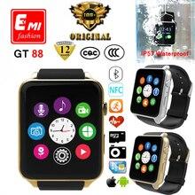 100% Оригинальный Монитор Сердечного ритма Bluetooth водонепроницаемый Smart watch GT88 Smartwatch Поддержка Sim-карты Для IOS Android пк apple watch(China (Mainland))