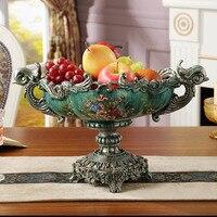 Винтаж серия европейской роскоши большая тарелка с фруктами фрукты украшение дома домашняя американской Европы Стиль с фруктами