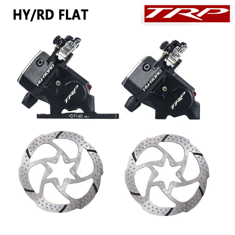 Original TRP HY RD Flat Mount Cable Actuated Hydraulic Disc Brake Front 160mm Rear 140mm w