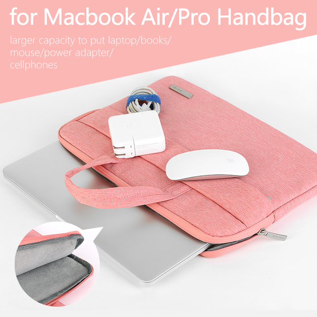 US $15 18 19% OFF|2018 Laptop Bag for macbook air 13 case Laptop Briefcase  for macbook pro 13 case 15 6 13 14 inch Laptop Case for Hp Acer Asus-in