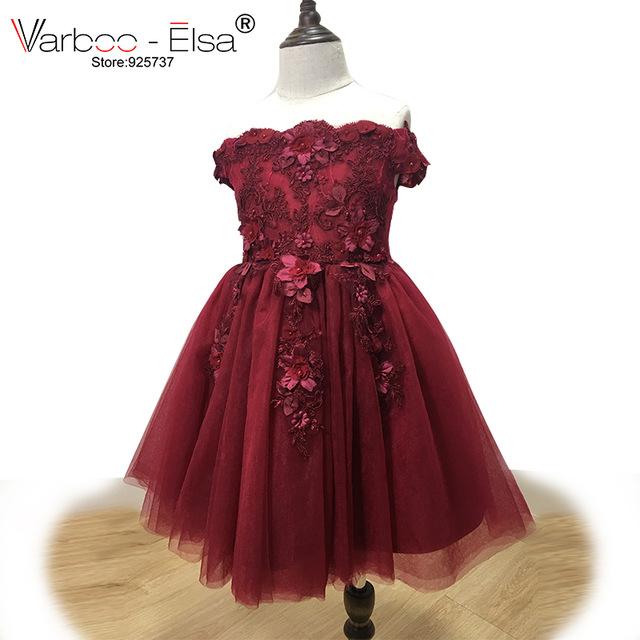 9edfe89b880f VARBOO ELSA Cute 3D Appliques Children Evening Dress 2018 Flower ...