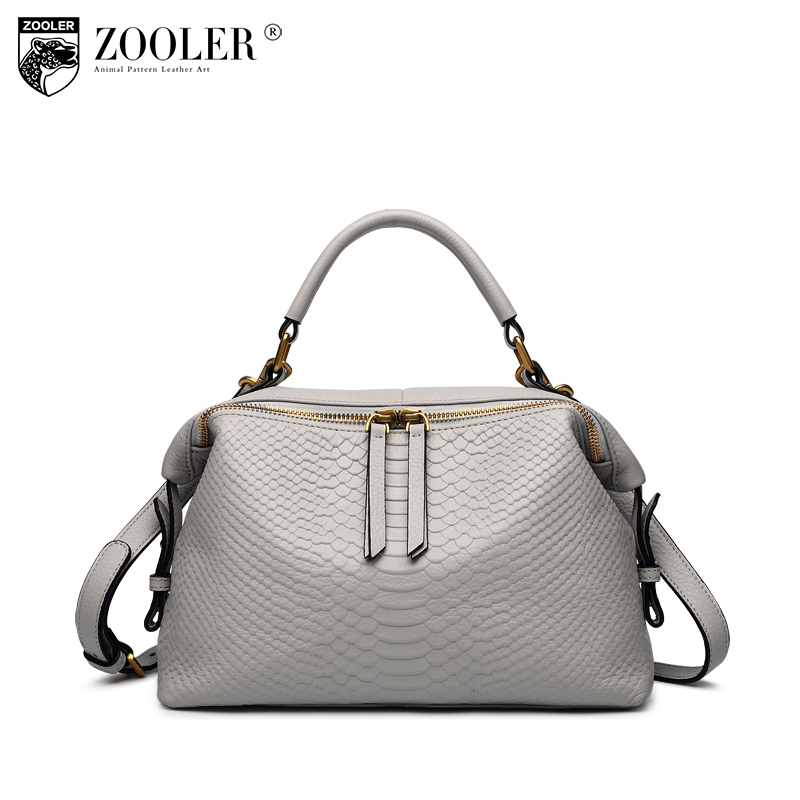 ZOOLER woman leather bag genuine leather handbags luxury women bags designer super soft serpentine pattern bolsa feminina B129 new zooler woman leather bags stars pattern luxury handbags bags woman famous brand designer shoulder bag bolsa feminina p113