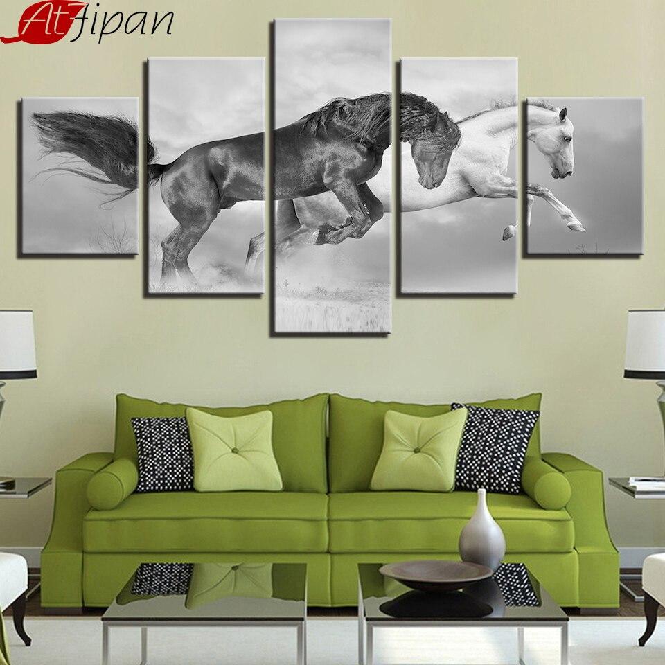 AtFipan Modern Home Decoration Canavs Art Prints 5 Pieces