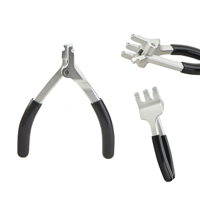 1 Pc High Quality Black Archery D Ring Rope Pliers For Compound Bow Hunting Shooting