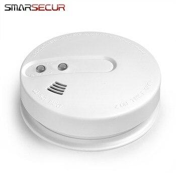 цена на Fire Protection 433MHz Smoke Detector Wireless White Color Smoke Sensor alarm fire For H6 GSM/Wifi Alarm System