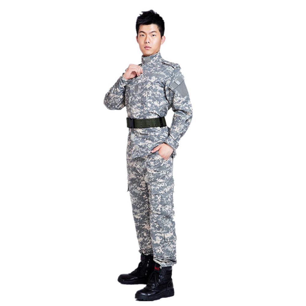 U.S. military uniform camouflage suit military suit male training uniform field service digital camouflage combat desert S-XXL 1 6 scale camouflage suit fg015 desert