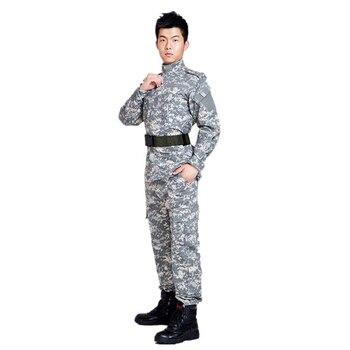 U.S. military uniform camouflage suit military suit male training uniform field service digital camouflage combat desert S-XXL