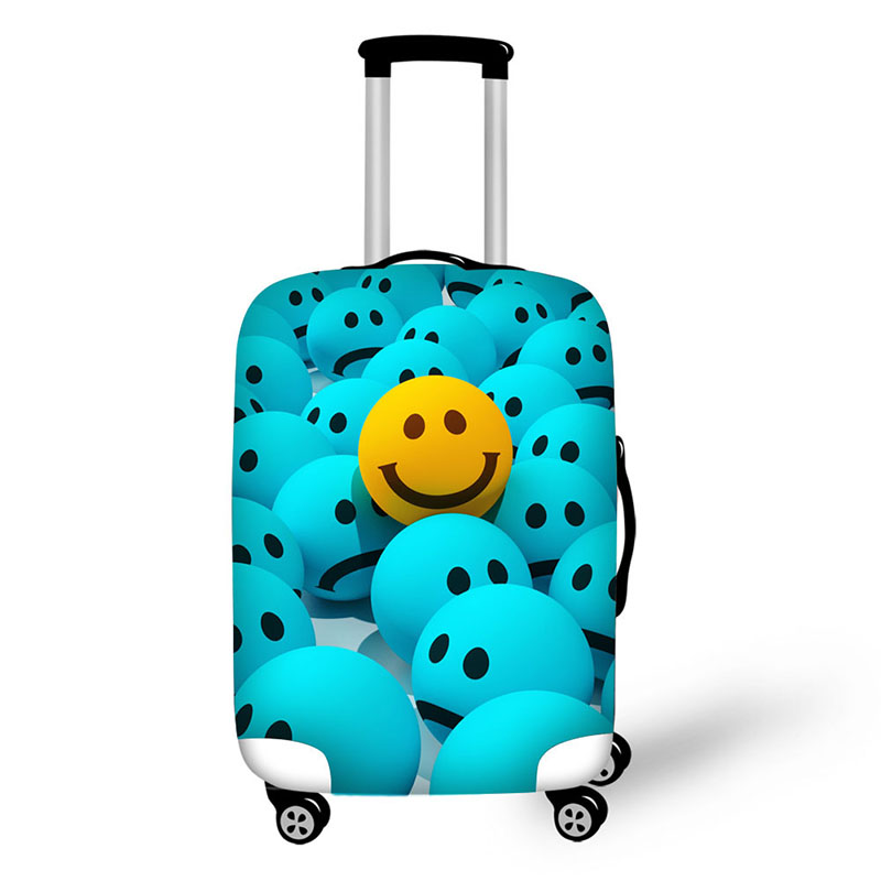 Happy Panda Family In Funny Travel Suitcase Protector Zipper Suitcase Cover Elastic