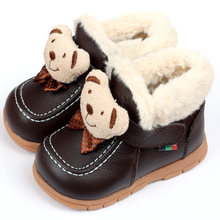 Baby Boots Winter Boy Snow Boots Brand Newborn Leather Baby Boots For Girl Baby Shoes Infant Kid Shoes First Walkers Moccasins(China)