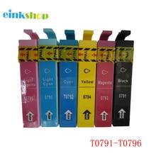 1Set of 79 T0791 - 796 Ink cartridge for Epson Stylus Photo 1400 Artisan 1430