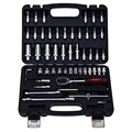 53pcs Automobile Motorcycle Repair Tool Case Precision Ratchet Wrench Sleeve Universal Joint Hardware Tools Kit Auto Repairing