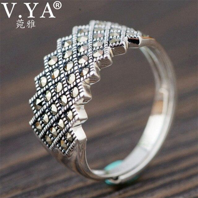 683fb2828e0c 100% puro de Plata de Ley 925 anillo de plata para las mujeres al por mayor  envío gratis marcasita anillo de la joyería de las mujeres WR20105