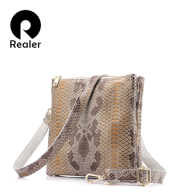 Realer brand new spring women bag fashion high quality shoulder bag genuine leather ladies messenger bag female crossbody bag