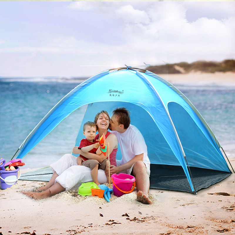 4 People Large Beach Ultralight C&ing Tent Outdoor Folding Awning Tenda Wind resistant Barraca Carpas Blue Pink Tente Anti UV -in Tents from Sports ...  sc 1 st  AliExpress.com & 4 People Large Beach Ultralight Camping Tent Outdoor Folding ...