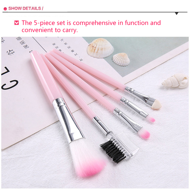 La Milee 20/5Pcs Makeup Brushes Set Eye Shadow Foundation Powder Eyeliner Eyelash Lip Make Up Brush Cosmetic Beauty Tool Kit Hot 4