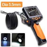 Диаметр 5,5 мм инспекции Камера 3,5 ЖК дисплей 720 P эндоскопа бороскоп инспекции видео Камера 1 м Зонд 6Led 4xzoom 360 градусов Поворот флип