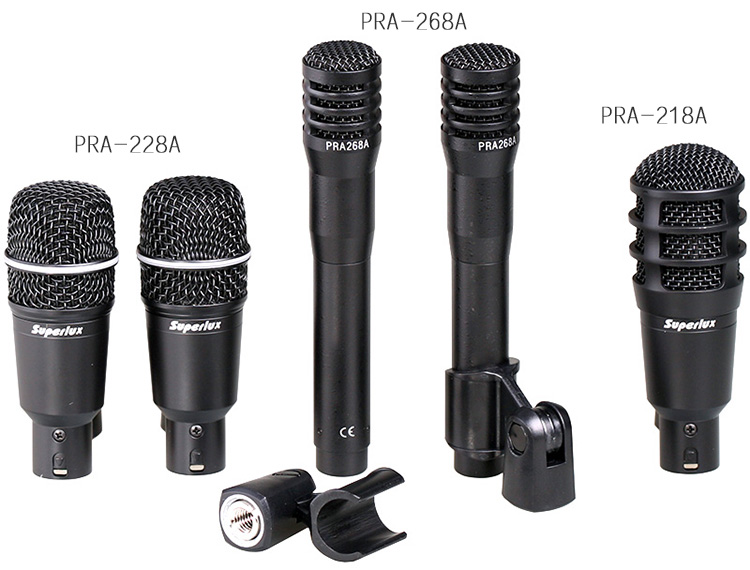 superlux drka3c2 instrument microphone portable drum kit set 5pcs drum microphone set in. Black Bedroom Furniture Sets. Home Design Ideas