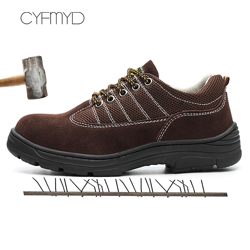 Men 39 s Sneakers Flock Air Mesh Sturdy Sole Safety Shoes Working Shoes Man Lace Up Mixed Colors Rubber Chaussure Homme in Men 39 s Casual Shoes from Shoes