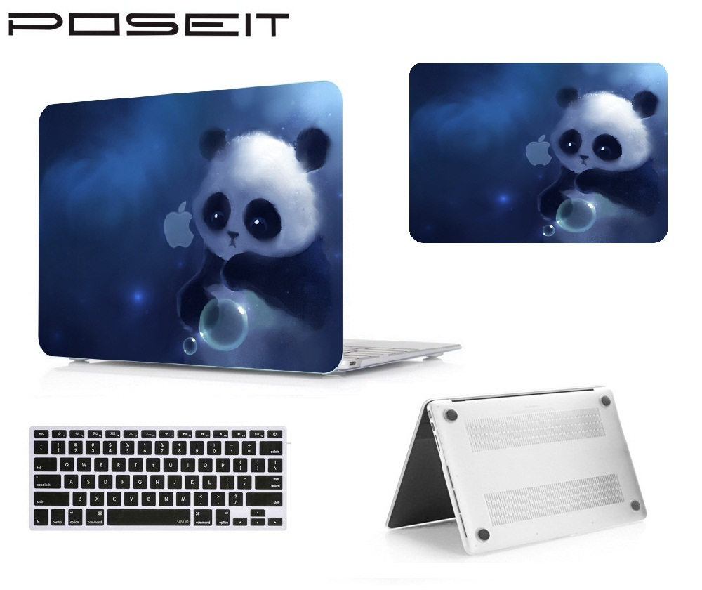 POSEIT Para Apple Macbook Air 11 Pro 13 Retina Toque Bar 12 13 15 Matte Duro de Cristal Bolsa Para Laptop Cor Da Tampa Shell + Teclado cobrir