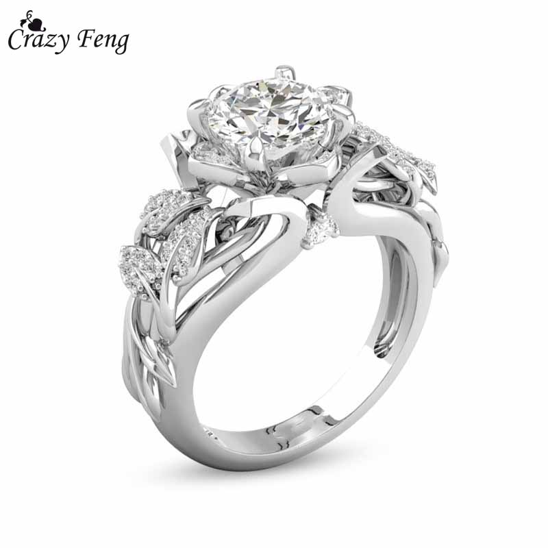 Crazy Feng Silver Color Women Rs