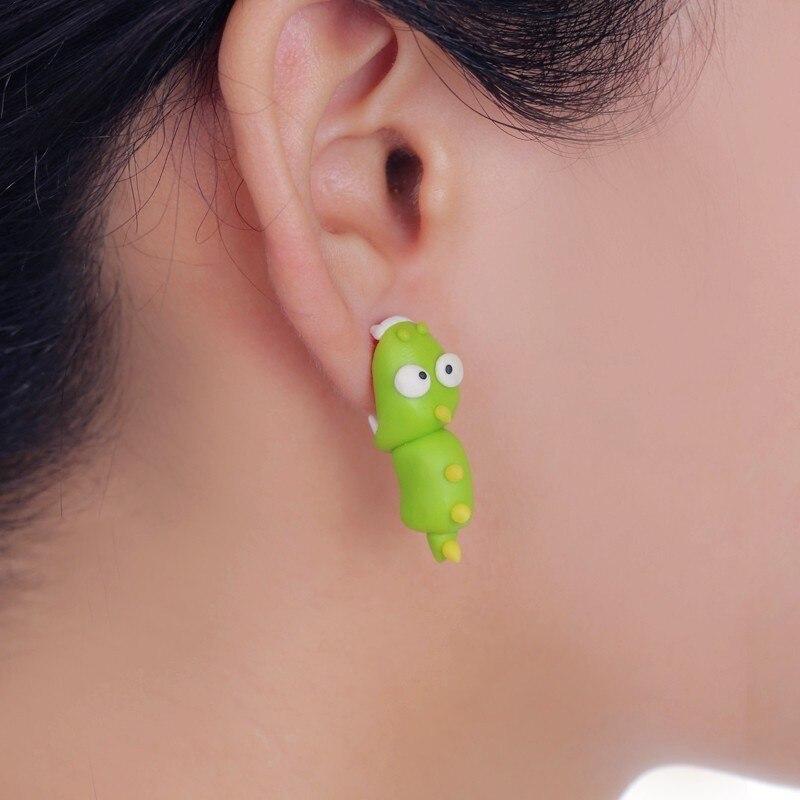 Cute Cartoon Dinosaur Stud Earrings