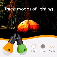 Mini Portable LED Light outdoor Hanging 3-LED Camping Lantern Soft Light Camp Lights Bulb Lamp For Camping Tent Fishing Light