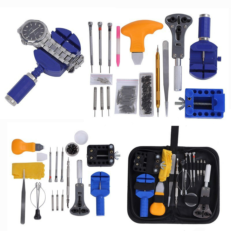 Watch Tools Watch Opener Repair Tool Kit Case Opener Link Watch Pin Remover Set Spring Bar back Opener watchmaker Tools Genuine 500pcs lot watch band strap link pin spring bar remover watchmaker removal repair tools