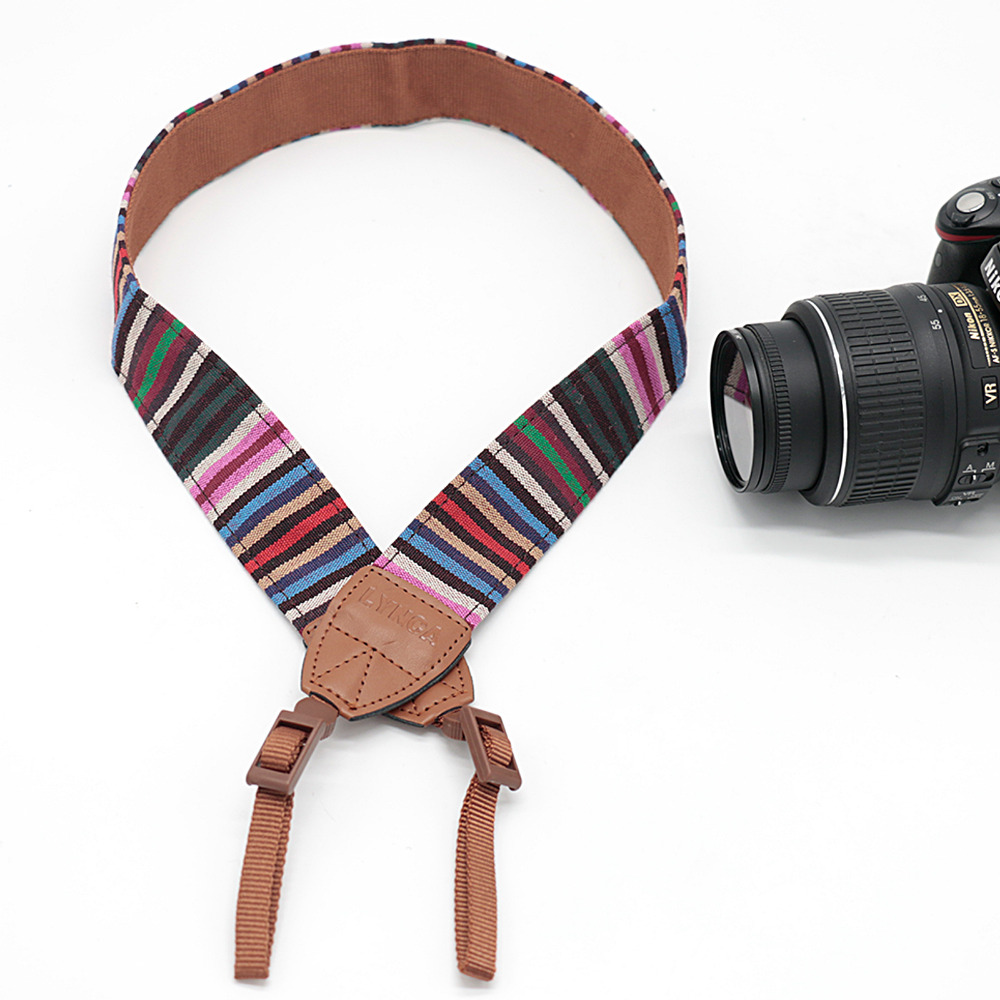 Retro Pattern Camera Shoulder Neck Strap Belt For Canon Nikon SLR DSLR LYN-255Z
