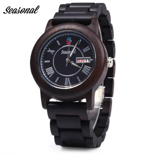 Seasonal Wood Watches Japan Movement Quartz With Waterproof Genuine Wooden Wristwatches for Men Casual Watches With Gift Box