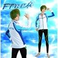 Free Shipping Free! Makoto Tachibana Iwatobi High School Swimming Club Swimsuit Anime Cosplay Costume For Halloween