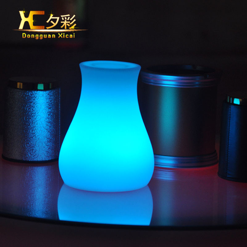 Plastic Led Decorative Lights Color Changing Small Night Light Glowing Decoration Table Lamp For Bar Home Holiday Wedding Party In Led Table Lamps From