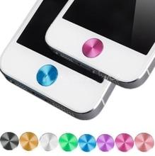 1X Алюминирования Металл Главная Кнопка Наклейка Наклейка многоцветный для iPhone 4 4S 5 5C(China (Mainland))